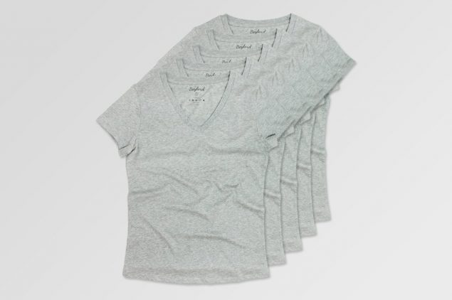 Basic T-Shirt Gri V Yaka